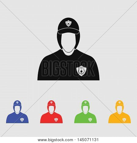 Police cadet  Vector Icon for web and mobile