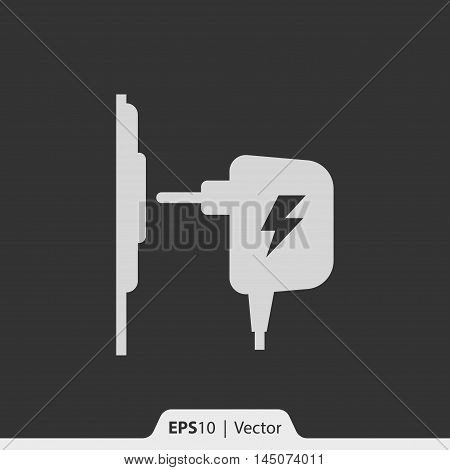 Charger Ac Adapter Vector Icon For Web And Mobile