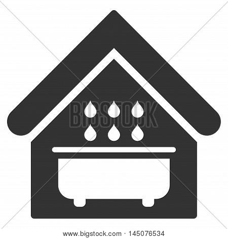 Bathroom icon. Vector style is flat iconic symbol, gray color, white background.
