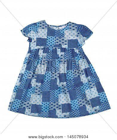 Satin baby dress. Isolate on white. clothing