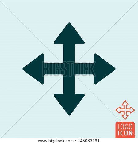 Cursor icon. Extend resize enlarge cursor vector illustration.