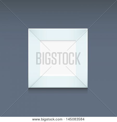 Photo Frame White Template Square Shape