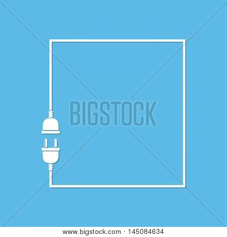 Abstract background with wire plug and socket. Concept connection connection disconnection electricity. Wire plug and socket - vector illustration.