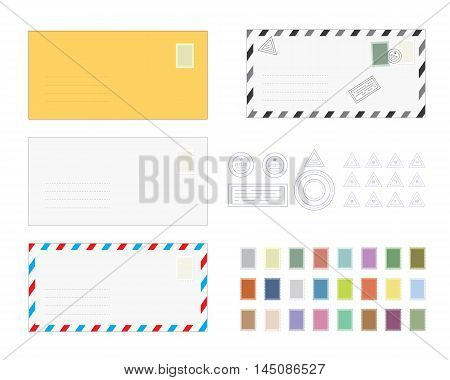 Letter Envelope Templates Set