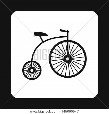 Retro bike icon in simple style isolated on white background. Riding symbol