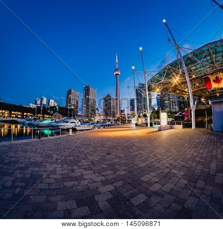 Sunrise at Harbour Front Toronto, Ontario, Canada
