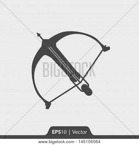 Crossbow Vector Icon For Web And Mobile