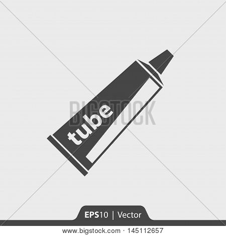 Paste tube vector icon for web and print