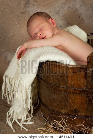 Baby In A Barrel