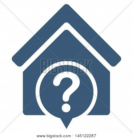 Realty State icon. Vector style is flat iconic symbol, blue color, white background.