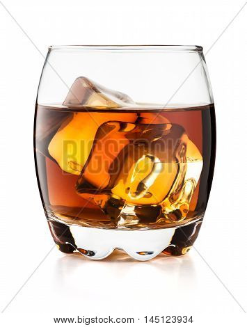 Glass Of Whisky Isolated On White Background