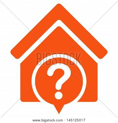 Realty State icon. Vector style is flat iconic symbol, orange color, white background.