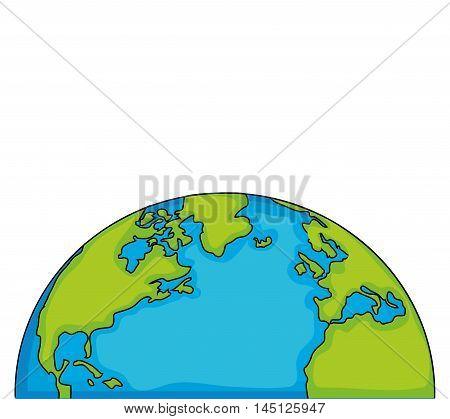 world eart globe isolated vector illustration eps 10