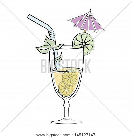 cocktail drink liquor isolated icon design, vector illustration