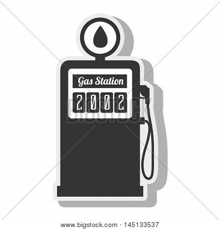 station gasoline diesel indrustry isolated vector illustration eps 10 poster