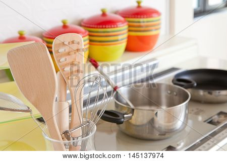 Kitchen and kitchen utensils