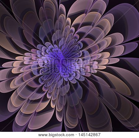 abstract fractal computer generated illustration colorful flower floral curve spiral concept 3d graphic digital design art structure render unique artwork saturated curly shape creative scientific futuristic science pattern