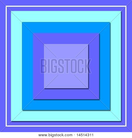 Bold Blue Squares