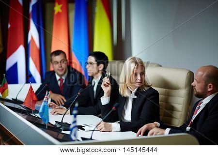 Delegates at forum