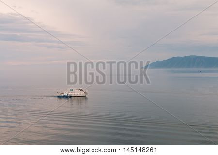 coast of Lake Baikal. Listvyanka Russia waterview