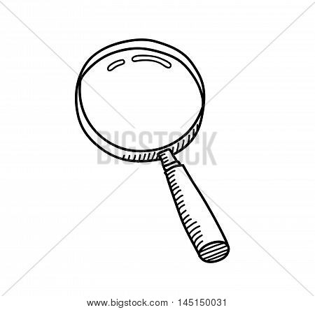Magnifying Glass Doodle. A hand drawn vector doodle illustration of a magnifying glass.
