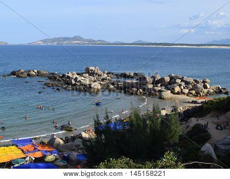 Trung Luong Beach In Binh Dinh, Vietnam