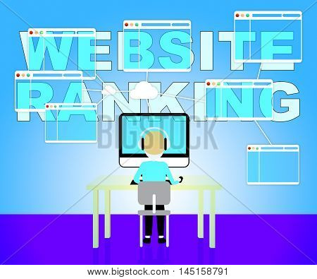 Website Rankings Represents Search Engine 3D Illustration
