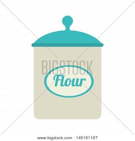icon flour bowl isolated vector illustration eps 10