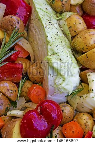 mixed vegetables in Provencal style ready to grill