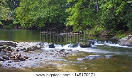 Wilson Creek encounters some rocks in North Carolina