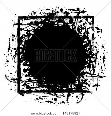 Vector Ink Blot With Brush Strokes