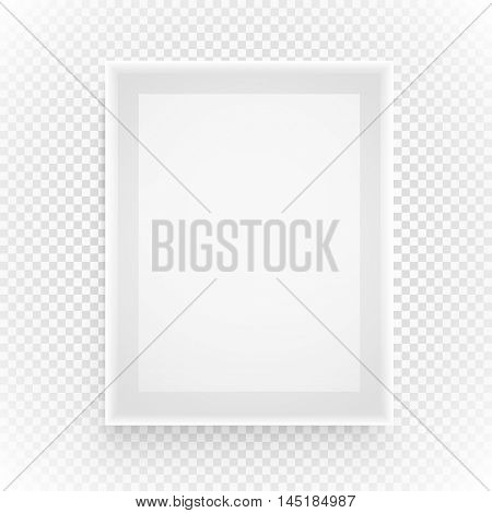 Empty picture frame isolated on transparent background
