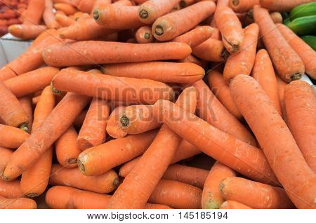 Carrots for sale at city farmers market