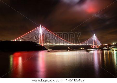 Istanbul bosphorus new bridge named Yavuz Sultan Selim
