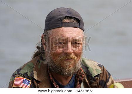 Elderly Homeless Man