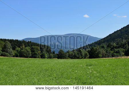 Mountain scenery in Jeseniky Czech republic. Landscape.
