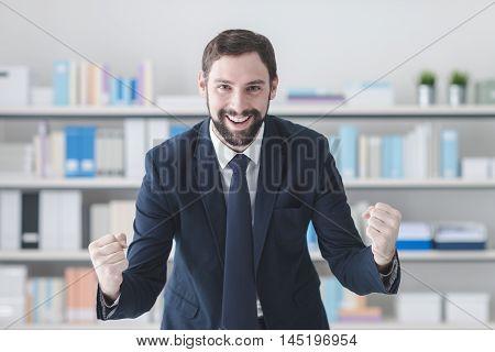 Cheerful Successful Businessman