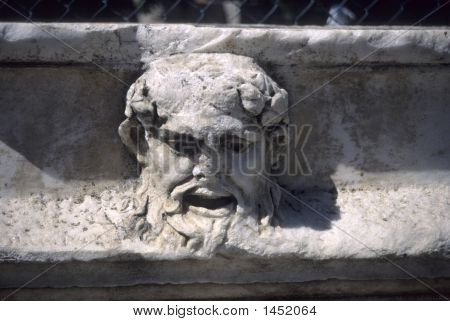Greek Theatre Mask As Waterspout
