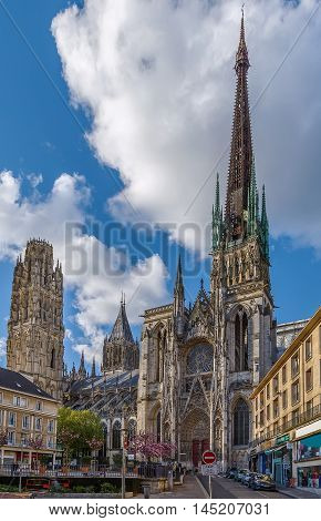 Rouen Cathedral is a Roman Catholic Gothic cathedral in Rouen Normandy France
