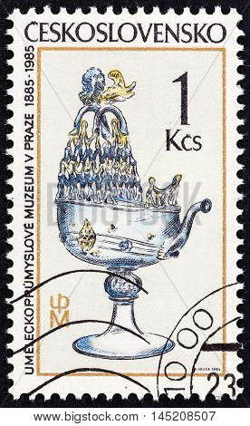 CZECHOSLOVAKIA - CIRCA 1985: A stamp printed in Czechoslovakia from the