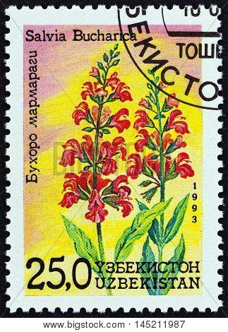 UZBEKISTAN - CIRCA 1993: A stamp printed in Uzbekistan from the