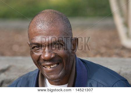 Smiling African American Man