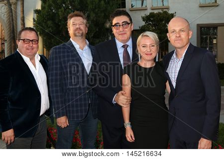 LOS ANGELES - AUG 31:  Sean Hanish, Kelly Kahl, Alfred Molina, Guest, Paul Jaconi-Biery at the