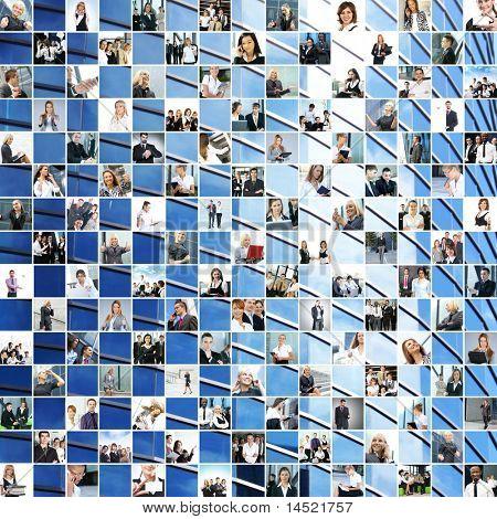 große Business Collage gemacht von 225 verschiedene Bilder und abstrakten Elementen. perfekt für illustratin