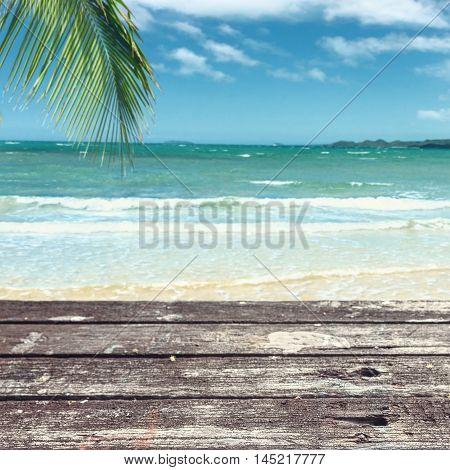 Old Table On Beach