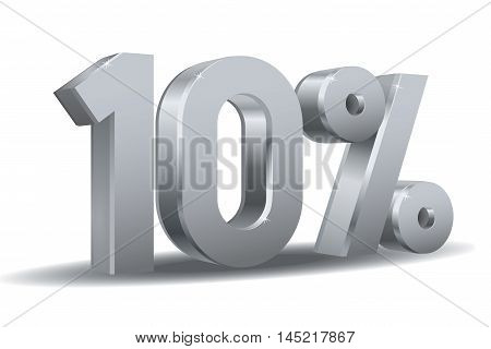 Vector of 10 percent in white background