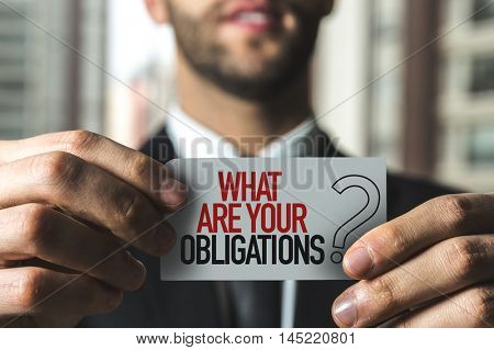 What Are Your Obligations?