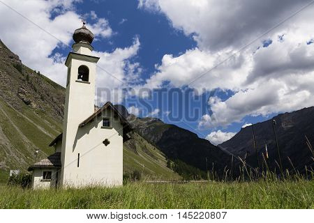 Church Chiesa Dell Immacolata Di Viera In Livigno, Italy