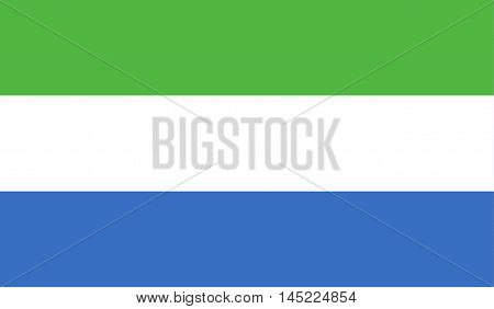 original and simple Sierra Leone flag isolated vector in official colors and Proportion Correctly.