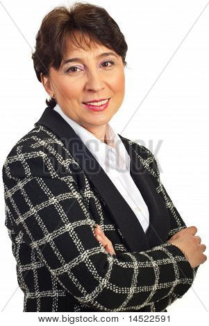 Cheerful Mature Business Woman